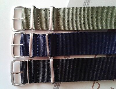 Military Nylon Wrist Watch Band Strap Watch Stainless Steel Buckle 22mm