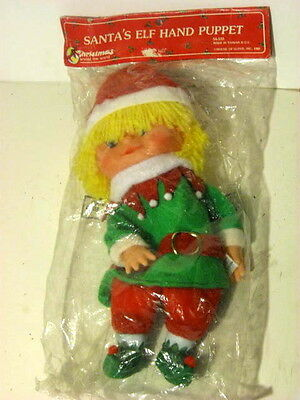 NEW Vintage  Santa's Elf Hand Puppet  Unopened Christmas 1987 House of Lloyd