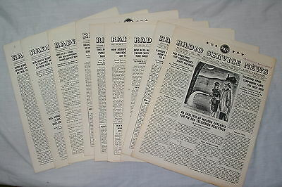 RCA Radio Service News 9 Issues 1947 - 1950 630TS 203P1 203P2 205P1 Magnifier ++