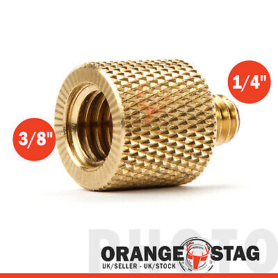 "3/8"" inch Female to 1/4"" Male Brass Screw Camera Tripod Thread Adapter Reducer"