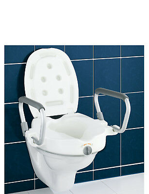 3in1 Raised Toilet Seat with Arms and Lid