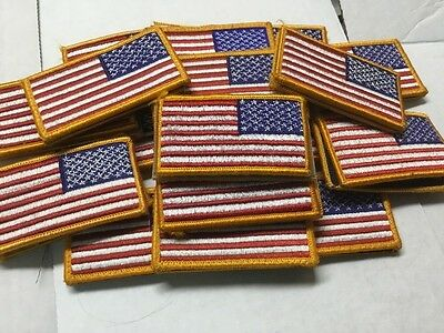 LOT OF 2 Military Uniform Regulation American Flag Patch USGI  REVERSE US ARMY