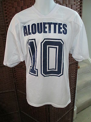 Alouettes Football Jersey Montreal CFL White Mens Large