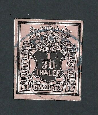 mjstampshobby 1851 Germany Hannover Mi Nr 3 Used VF Condition (Lot789)