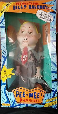 """Vintage Pee-Wee's Playhouse Billy Baloney Ventriloquist Puppet Doll 1988 18"""""""
