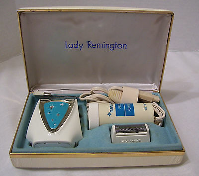 Lady Remington Electric Shaver Razor With Case Accessories Tested Works Vintage