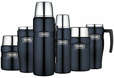 Thermos King Tea Coffee Food Drink Travel Flask Cup Mug Midnight Blue