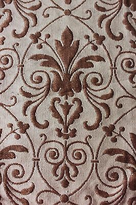 Antique Napoleon III Woven Jacquard Linen Fabric Panel c1830-1850~Frame Layout
