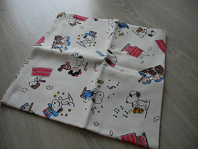 Japan Handkerchief Scarf Snoopy Town Peanut Cartoon Cotton Fabric Kid Women 17""