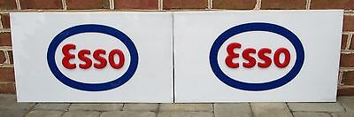 Matched Pair Vintage ESSO Advertising Gas Station Signs w/ Raised Letters