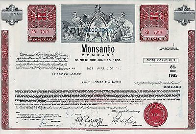 Monsanto Company, Delaware, (BAYER) 1976 - 8% Note due June 15, 1985 (100.000$)