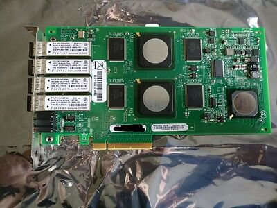 Quad port 4gb lc fibre channel fc pci-e 8x QLogic QLE2464 NetApp 111-00415+A0