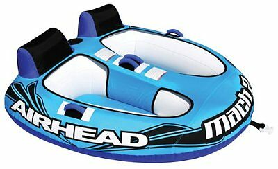 Airhead Mach 2 Inflatable Double Rider Towable Lake Water Tube | AHM2-2