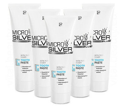 (8,27€/100ml) LR 5er Pack Microsilver Plus Zahncreme Tooth Paste 5 x 75ml