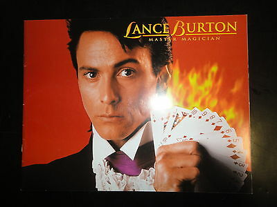 Lance Burton Master Magician Souvenir Program, 32 pages, Slightly Used