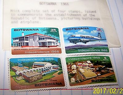 Botswana 1966 Stamp Set Of 4 Establishing The Republic # Mnh Lot 9