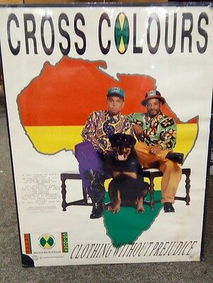 Rare Original C.1990 Cross Colours Clothing Without Prejudice Advertising Poster