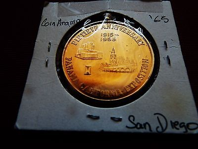 1965 8th San Diego Coinarama, Numismatic Council 50th Anniversary, Very Rare