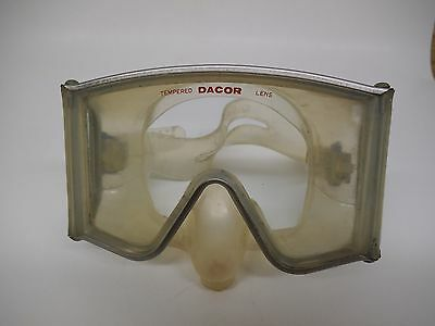 Vintage Dacor Dive Mask, Clear Silicon & Tempered Lens, Very Good Condition!