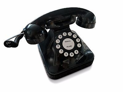 "Novelty Black ""Retro"" Corded / Wired Land Line Phone BT Virgin Sky Talk Talk"