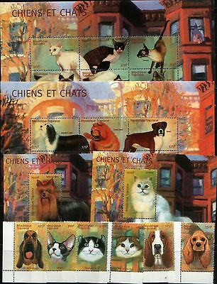 Togo 2001 domestic animals dogs cats set+2klb+2s/s MNH