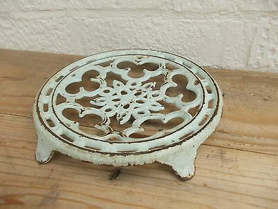 Vintage French Cast Iron Trivet Pot Pan Stand Shabby Chic Rustic Kitchenalia
