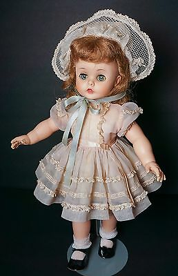 "Vintage Madame Alexander 15"" Kelly in Tagged Dress"