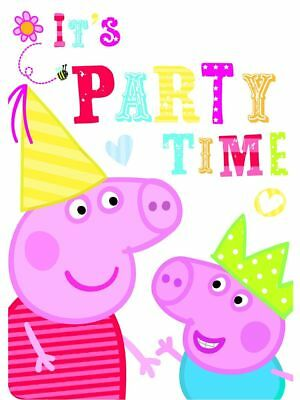 Peppa Pig Party Invitations party supplies Girl Boys inc Envelopes