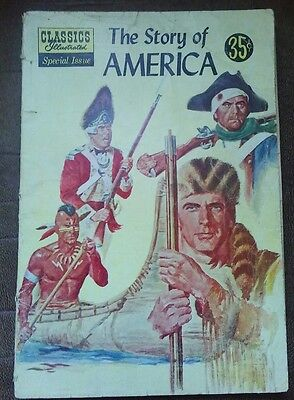 Classics Illustrated Special Issue Comic Book #132A The Story of America, FINE+