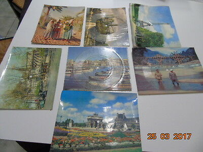 Lot de cartes postales disques 45 tours Phonoscopes Paris, Afrique, Marseille
