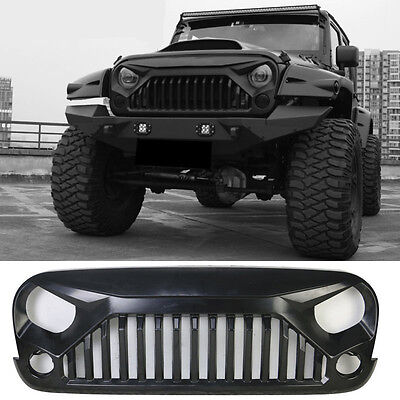 Upgrade Angry Bird Front  Matte Grill Grille For Jeep Wrangler 07-17 & Unlimited