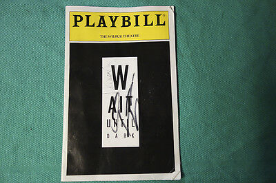 Wait Until Dark Playbill  Boston Tryout Signed By Marisa Tomei Quentin Tarantino