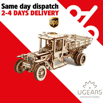Ugears UGM-11 Truck (Lastwagen) Mechanical 3D Wooden Puzzle self-assembly
