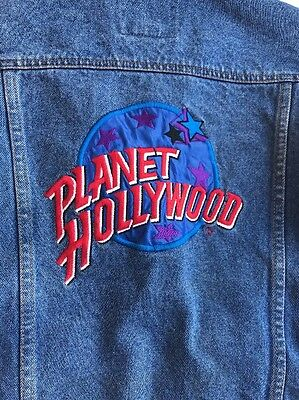 Vintage Youth Planet Hollywood Jean Denim Jacket Size Medium 1991