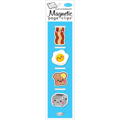 Magnetic Page Clip Bookmarks 4/Pkg Breakfast 42000