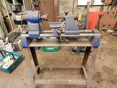 Record Cl5 Wood Turning Lathe Heavy Stand And Chisel Set Good Used Parts.