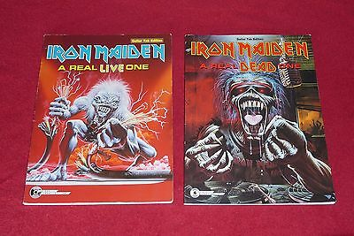 2 Iron Maiden A Real LIVE / DEAD One Guitar TAB Books Authentic trooper Rare OOP