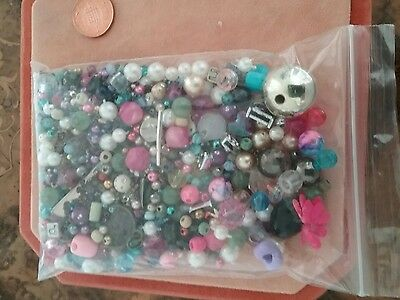 Vintage mix of  multi shape size and colour beads #99