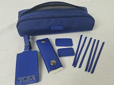 Blue Tumi Accents Kit, Repair Kit, Accessory Pouch, Luggage Tag $85.00