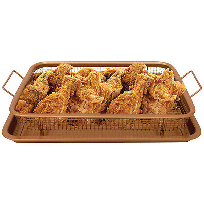 Gotham Steel Oven Crisping Baking Tray Basket - Copper
