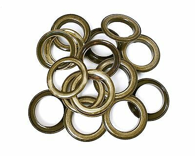 30mm Bronze Eyelets Brass Grommets with Washers PVC Banner Fabric Leather DIY