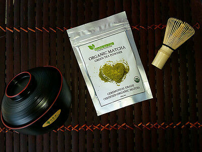 Matcha Premium CEREMONIAL Grade - 100% Certified Organic Matcha Green Tea Powder