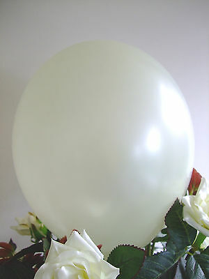 "50 IVORY BALLOONS 12"" HIGH QUALITY Air Helium LATEX Biodegradable Wedding"