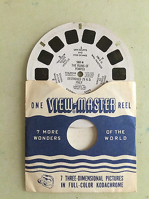 view master 1614 the runs of pompeii destroyed 789 ad italy sawyer's inc. oregon
