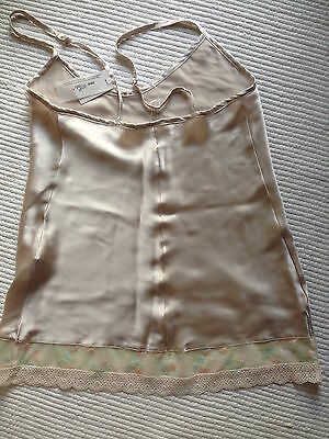 Intimissimi Cami Silk Light Pink NWT Lace Luxe Top Camisole