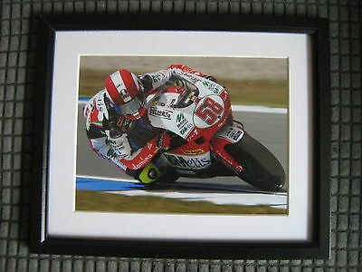 MARCO SIMONCELLI FRAMED 8x6in PHOTO