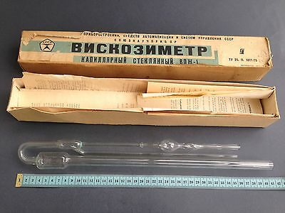 viscometer capillary glass WPI-1 USSR vintag 1980 Oil Kinematic Viscosity Meter