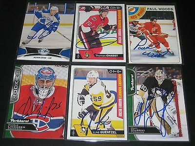 """PAUL WOODS autographed '78/79 DETROIT RED WINGS """"O-Pee-Chee"""" card"""
