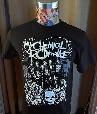 Brand New My Chemical Romance Band Skull Faces Black T Shirt