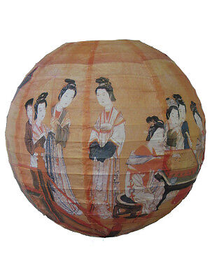 The FOUR GREAT BEAUTIES of CHINA - 40cm CHINESE PRINT, WIRE FRAMED PAPER LANTERN